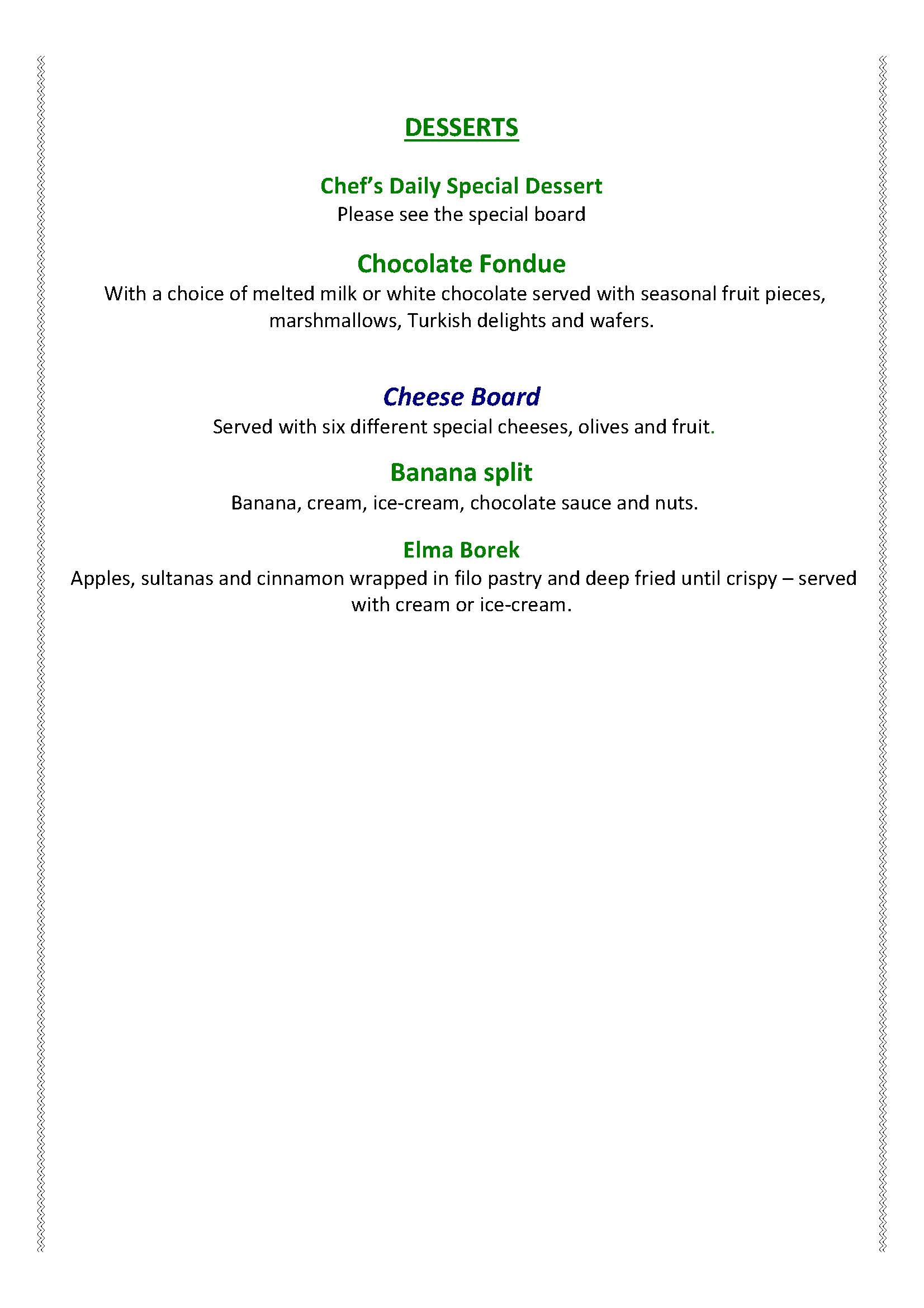 Yakamoz Dinner Menu 2016 Page 6